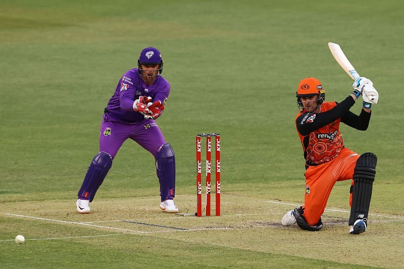 Jason Roy in action during the BBL.