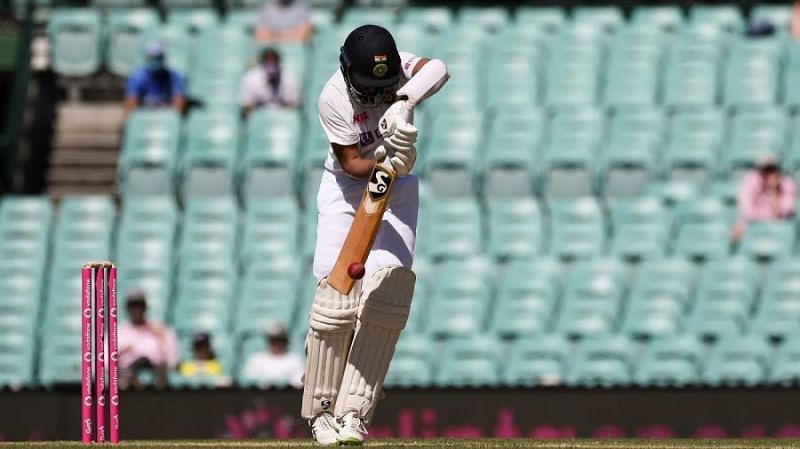 Cheteshwar Pujara in action for India during a Test match
