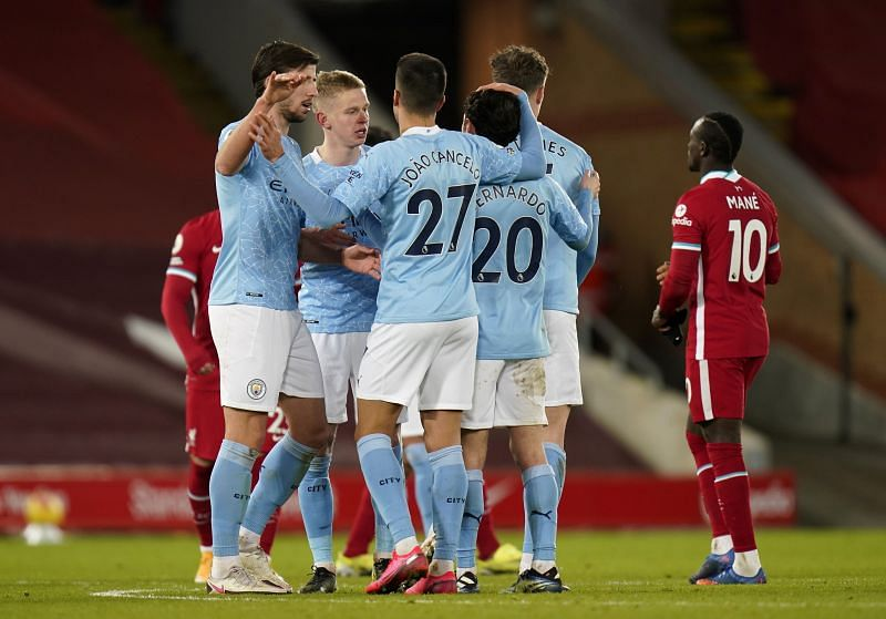 Manchester City blew away hapless Liverpool at Anfield.