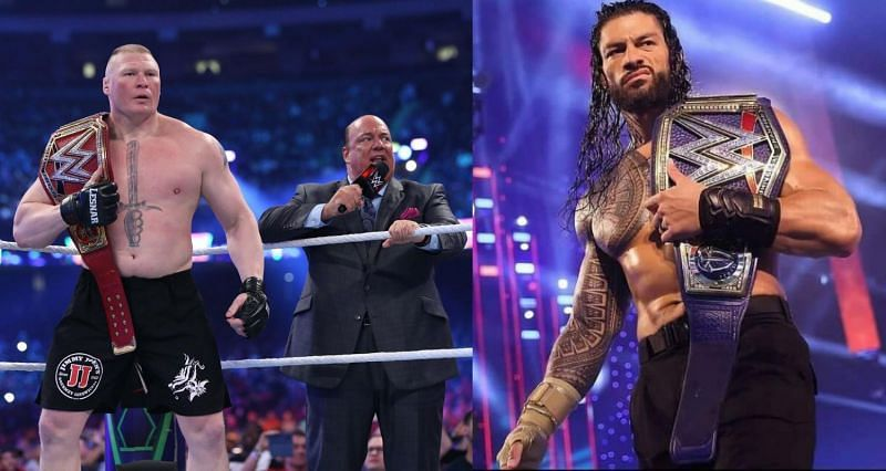 Brock Lesnar and Paul Heyman; Roman Reigns