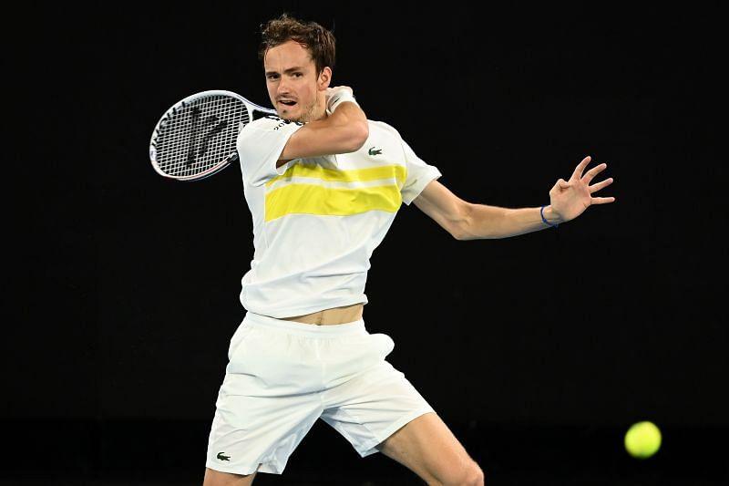 Daniil Medvedev at the 2021 Australian Open
