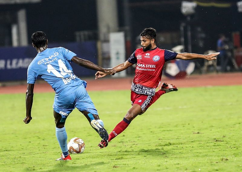 Action from the last ISL meeting between Mumbai City FC and Jamshedpur FC (Image: ISL)