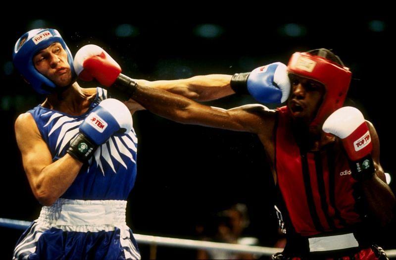 Oleg Saitov beats Juan hernandez during 1996 Atlanta Olympic Games