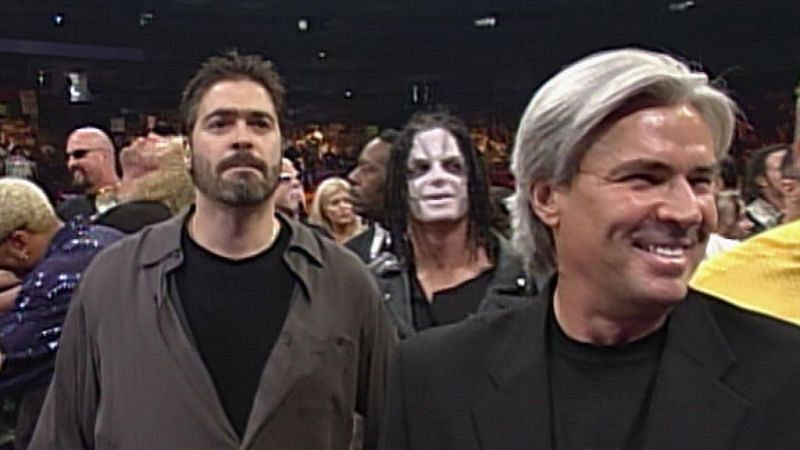 Vince Russo (left) in WCW