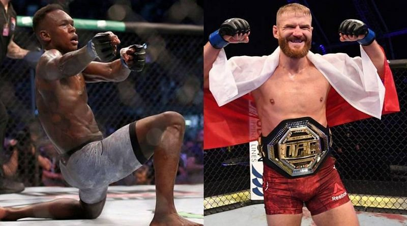 Israel Adesanya (left) and Jan Blachowicz (right) will clash at UFC 259