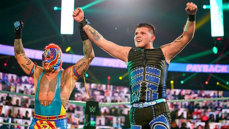 Rey Mysterio does not let up when he is training Dominik
