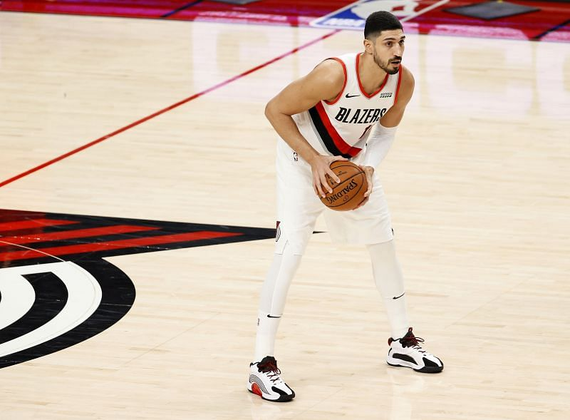 NBA DFS Enes Kanter #11 of the Portland Trail Blazers