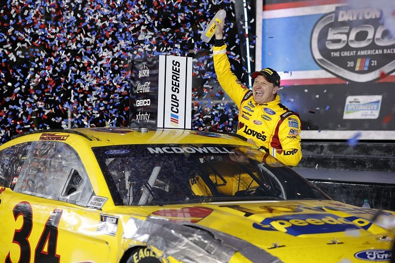 NASCAR Cup Series 63rd Annual Daytona 500 winner, Michael McDowell. Photo: Getty Images