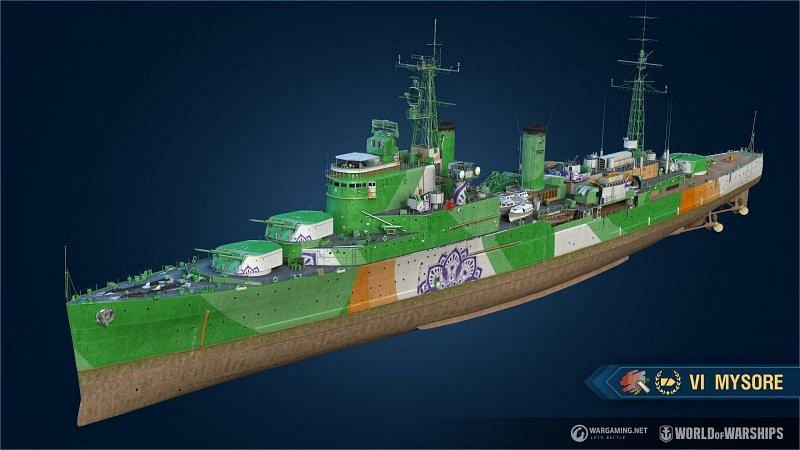 The inclusion of the INS Mysore in World of Warships is an attempt at attracting more Indian players (Image via World of Warships)
