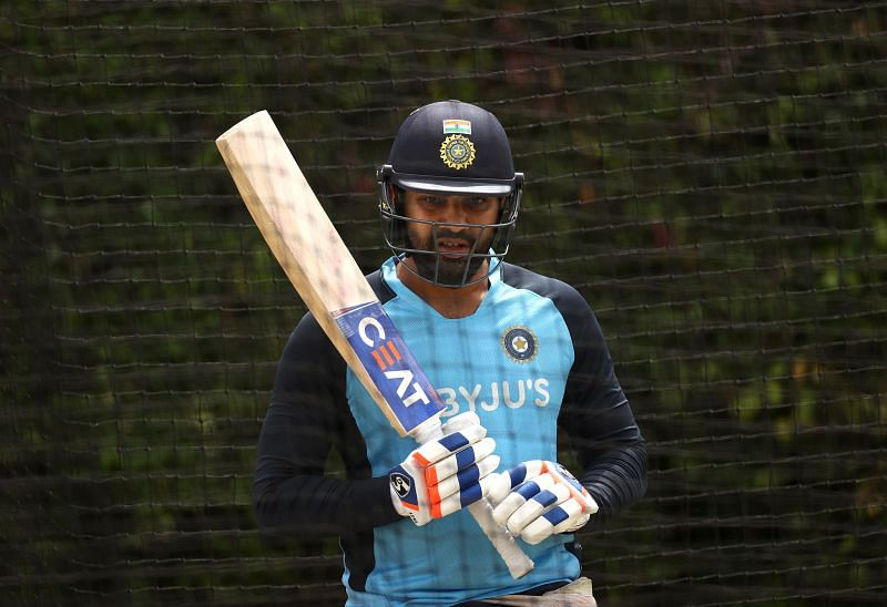 Rohit Sharma in a net session