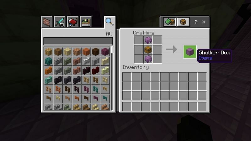 Crafting a Shulkers Box