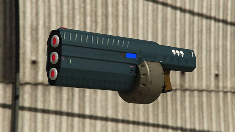 The coolness of laser guns with the effectiveness of an LMG (Image via GTA Wiki)