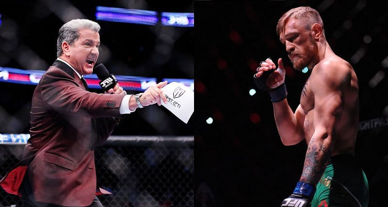 Bruce Buffer (Left) believes Conor McGregor (Right) can maintain the level that he