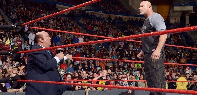 Goldberg and Paul Heyman in WWE