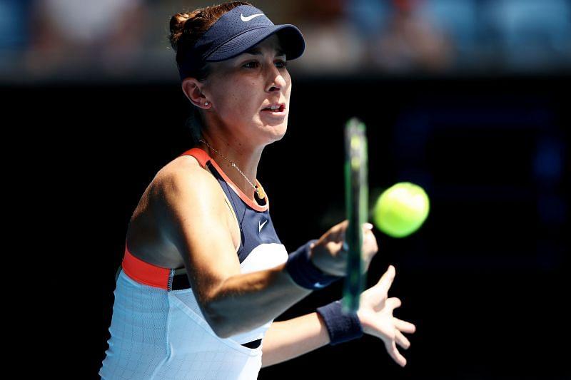 Belinda Bencic at the 2021 Australian Open