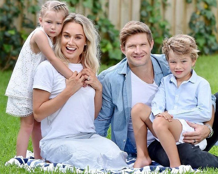Shane Watson and his family