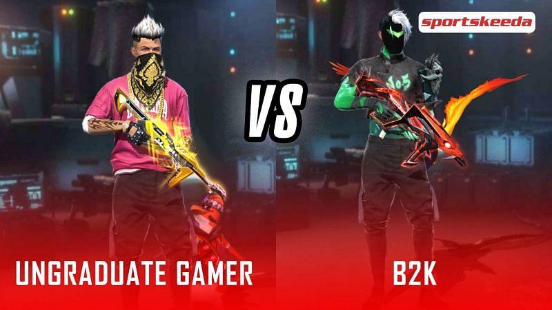 Garena Free Fire: UnGraduate Gamer vs B2K (Image via Sportskeeda)