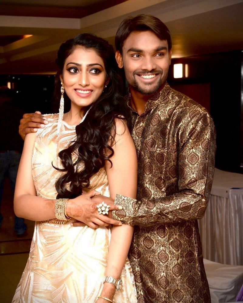 Sandeep Sharma and his wife