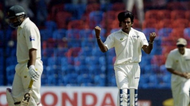 Balaji celebrates the fall of a wicket during his playing days