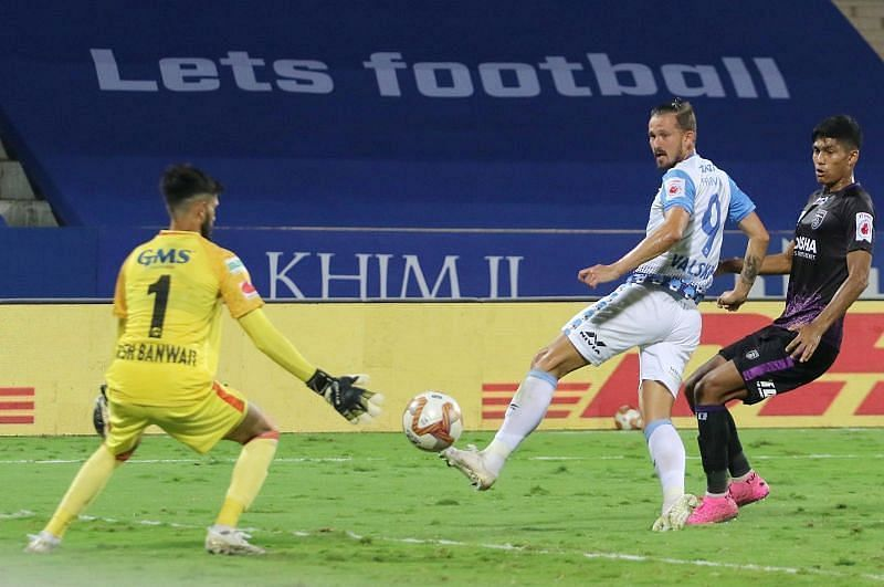 Nerijus Valskis is the top scoring player for Jamshedpur FC (Courtesy - ISL)