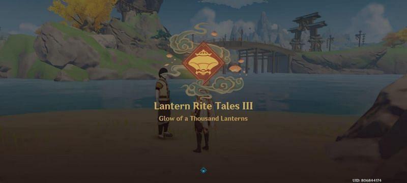 Lantern Rite Tales Stage 3 unlocks the Illumiscreen 3 quest.