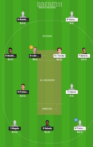 HL vs KTS Dream11 Team - CSA T20 Challenge