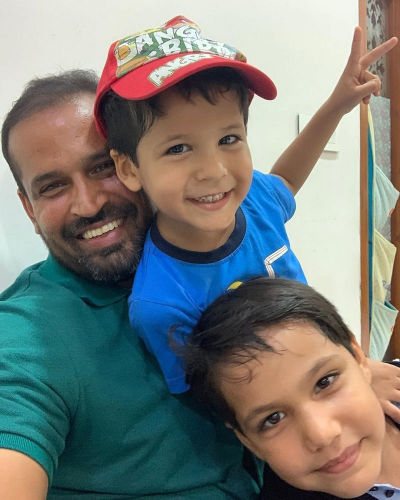 Y Pathan with his children