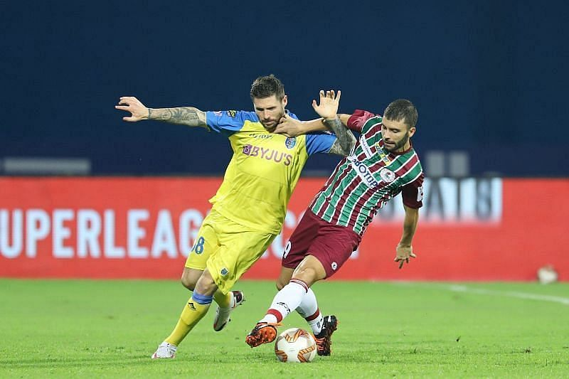 Gary Hooper has scored twice in the last two ISL matches for Kerala Blasters FC (Courtesy - ISL)