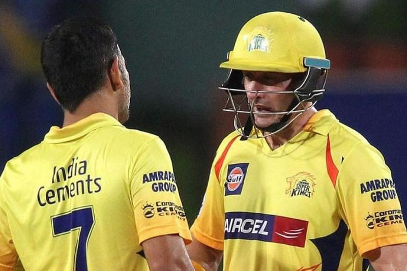 Cheteshwar Pujara could shine in the IPL just like Michael Hussey (right) did with CSK.