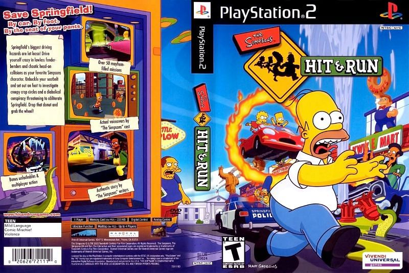 The Simpsons: Hit & Run (Image via The ISO Zone)