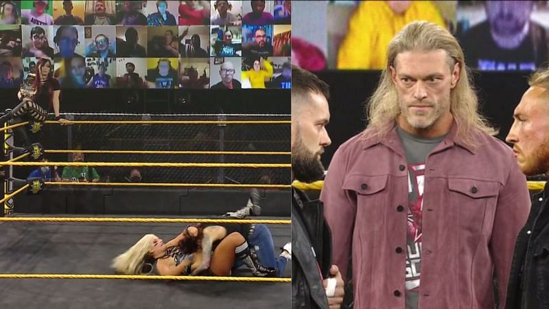 Edge has a face-to-face with several top NXT stars; Io Shirai watches over her challengers