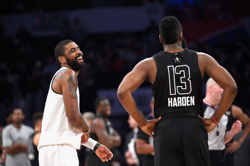 James Harden and Kyrie Irving of the Brooklyn Nets defeated the LA Lakers in an exciting NBA clash
