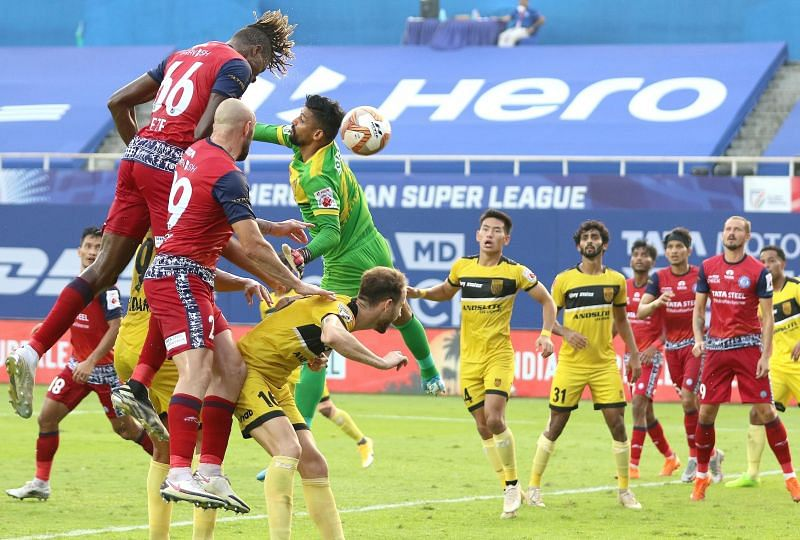 Jamshedpur FC were lethal with their set-pieces against Bengaluru FC. (Image courtesy: ISL)