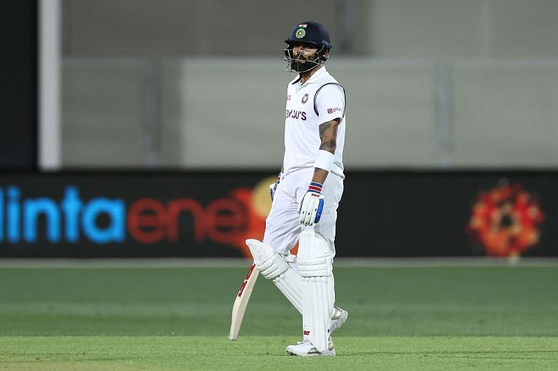 Virat Kohli was dismissed for a duck by a spinner in Test matches for the very first time.