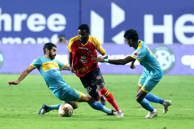 Bright Enobakhare helped his side earn a 1-1 draw with Hyderabad FC in their previous ISL fixture. (Image: SC East Bengal)