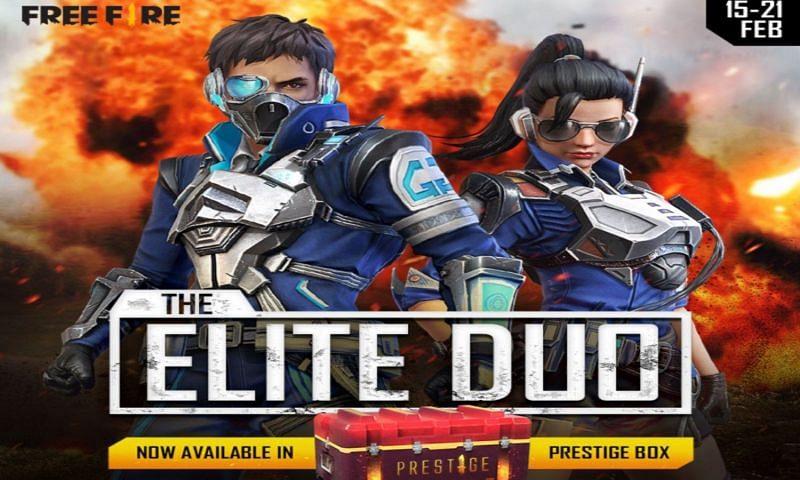 Elite Duo in the Prestige Box (Image via Free Fire / Facebook)