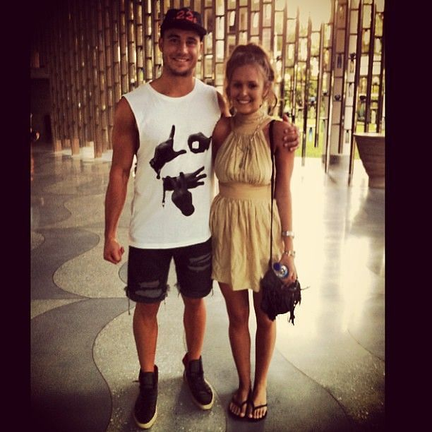 Marcus Stoinis and his wife Stephanie Muller