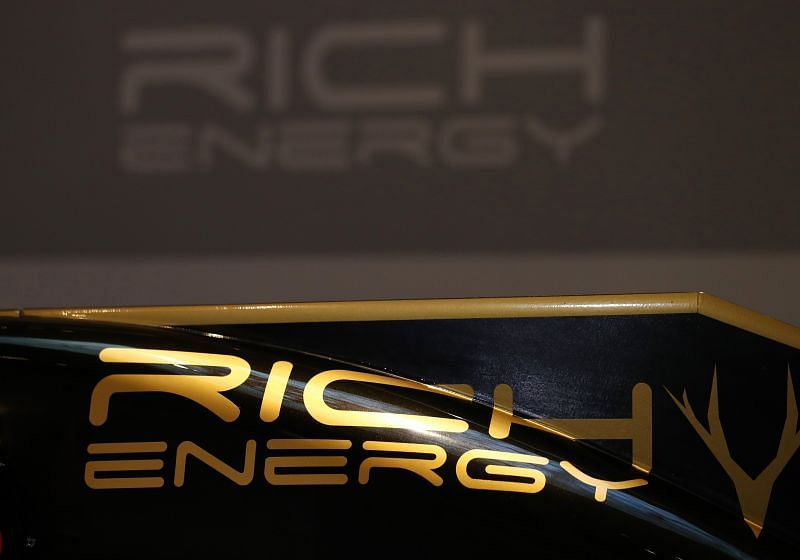 Rich Energy formerly sponsored Haas F1 Team. Photo by Bryn Lennon/Getty Images