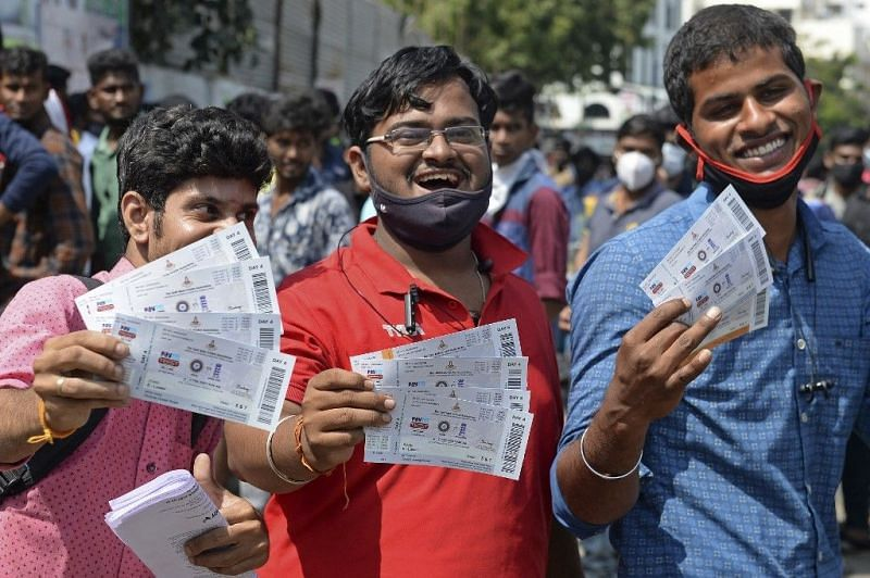 Fans were ecstatic after getting their tickets at the Chepauk