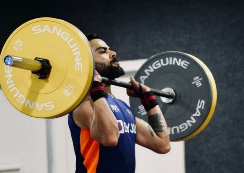 Virat Kohli working out. Pic: Virat Kohli/ Twitter