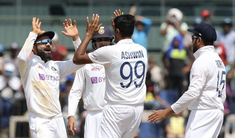 Ravichandran Ashwin has claimed four wickets.