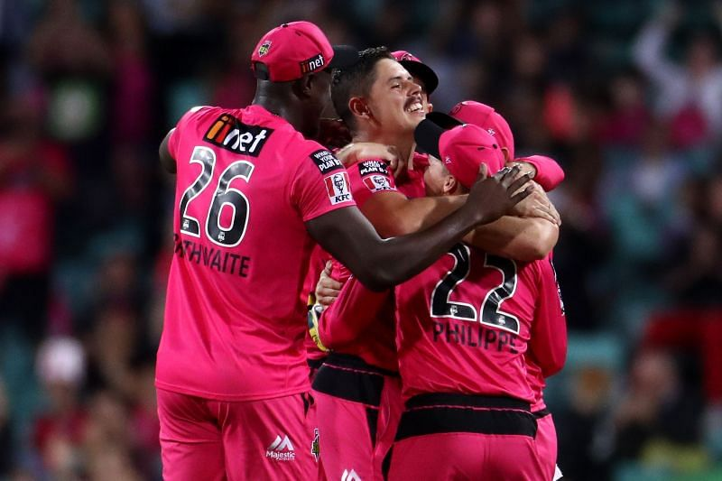 Sydney Sixers celebrating their 3rd BBL title win.