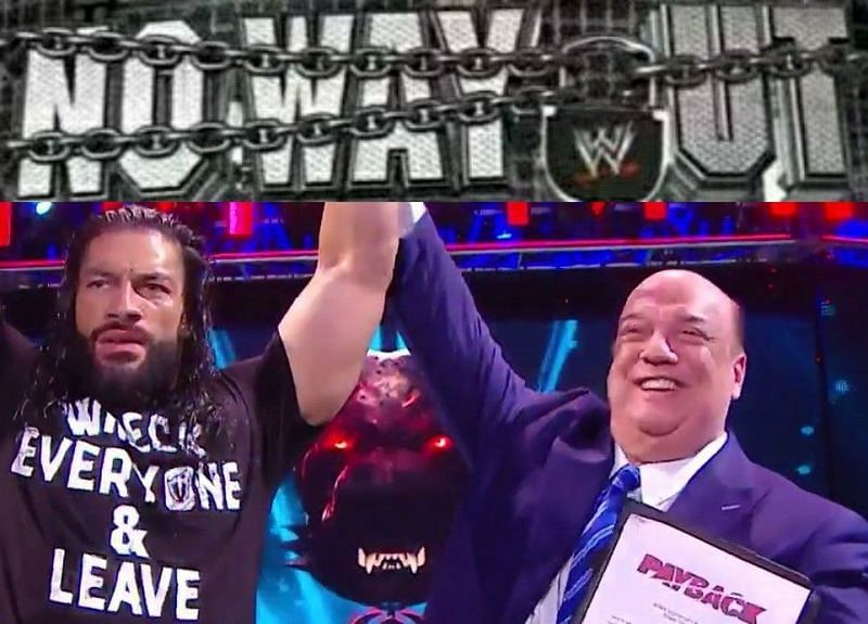 WWE No Way Out; Roman Reigns and Paul Heyman celebrate at WWE Payback