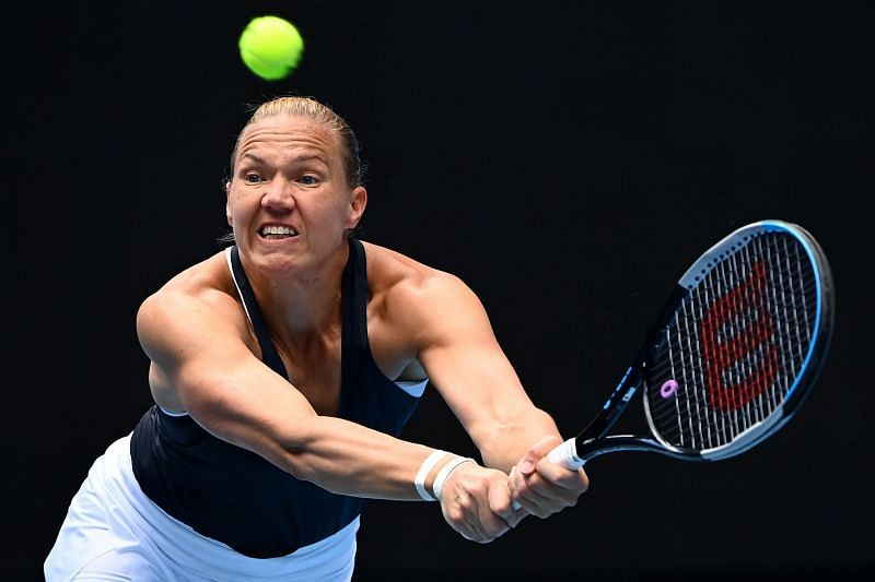 Kaia Kanepi will look to make the most of her big groundstrokes