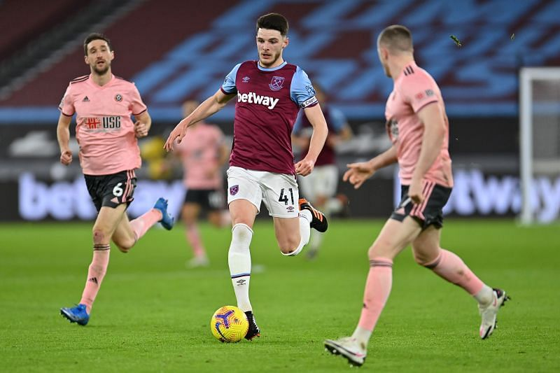 Declan Rice has been in scintillating form for West Ham United