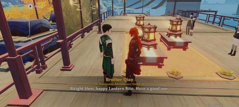 Reporting progress of treasure hunt to Brother Qian