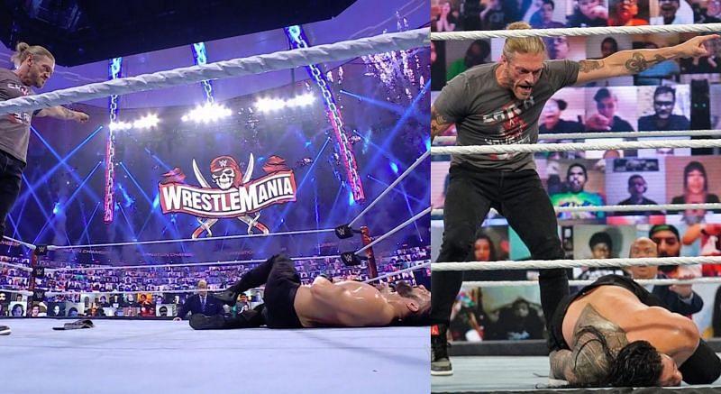 ऐज ने WWE Elimination Chamber में किया रोमन रेंस का बहुत ही बुरा हाल