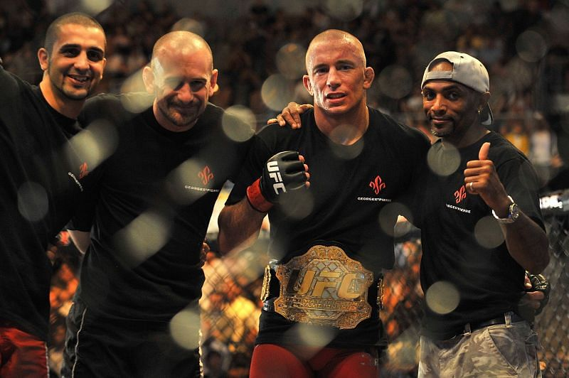Georges St. Pierre defended the UFC Welterweight title successfully on nine occasions.