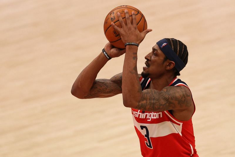 Bradley Beal #3 of the Washington Wizards shoots against the Toronto Raptors