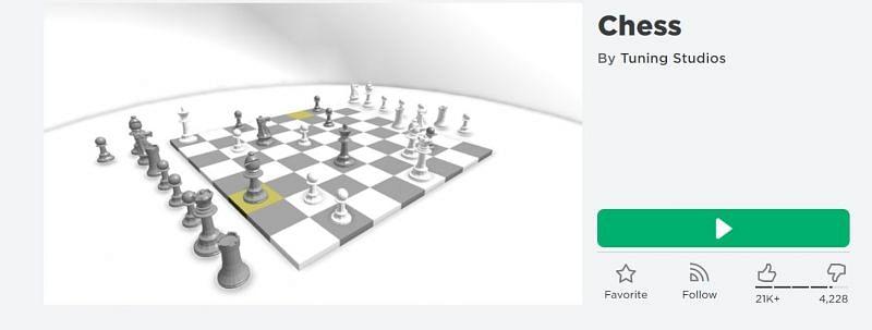 The Chess game on Roblox (Image via Roblox.com)